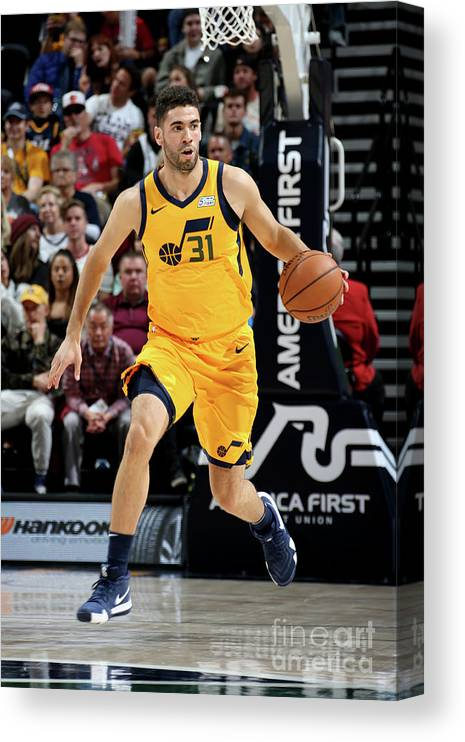 Nba Pro Basketball Canvas Print featuring the photograph Georges Niang by Melissa Majchrzak