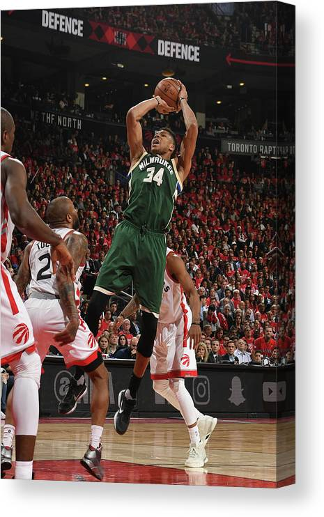 Playoffs Canvas Print featuring the photograph Giannis Antetokounmpo by Ron Turenne
