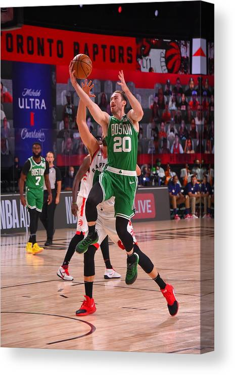 Nba Pro Basketball Canvas Print featuring the photograph Gordon Hayward by Bill Baptist
