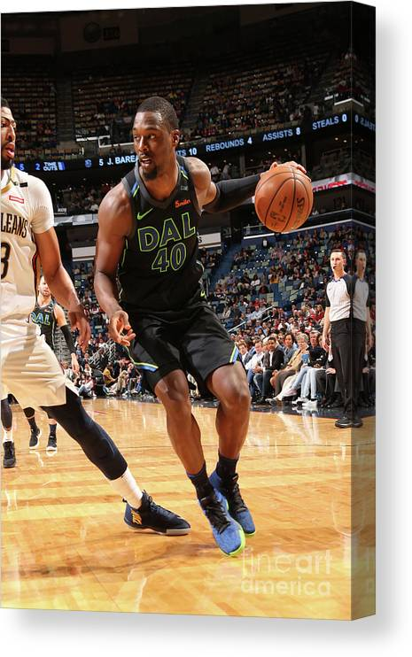 Smoothie King Center Canvas Print featuring the photograph Harrison Barnes by Layne Murdoch