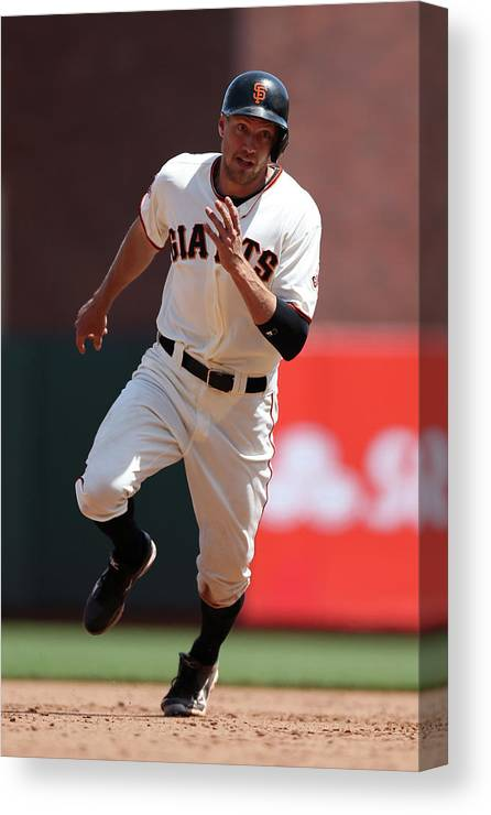 San Francisco Canvas Print featuring the photograph Hunter Pence by Brad Mangin