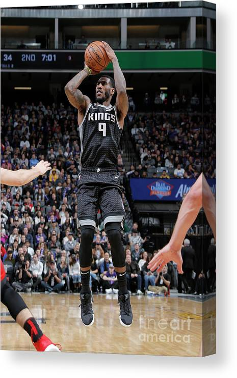 Nba Pro Basketball Canvas Print featuring the photograph Iman Shumpert by Rocky Widner