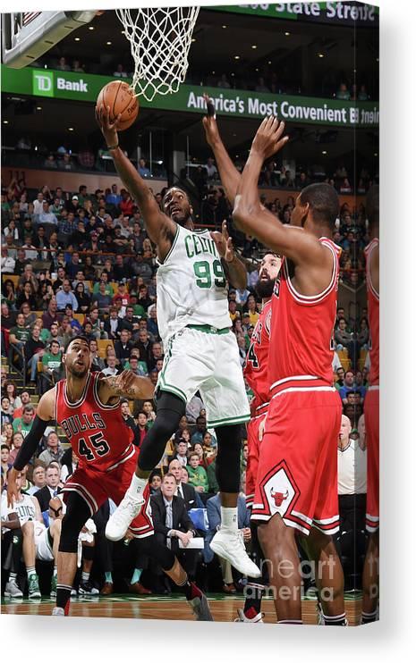 Nba Pro Basketball Canvas Print featuring the photograph Jae Crowder by Brian Babineau