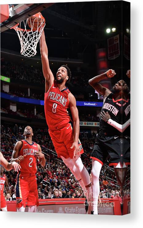 Nba Pro Basketball Canvas Print featuring the photograph Jahlil Okafor by Bill Baptist