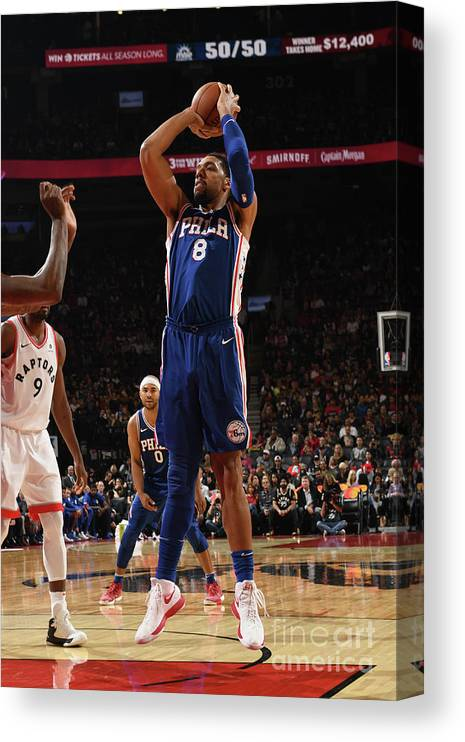 Nba Pro Basketball Canvas Print featuring the photograph Jahlil Okafor by Ron Turenne