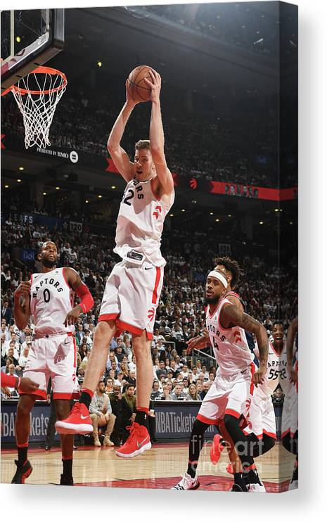 Playoffs Canvas Print featuring the photograph Jakob Poeltl by Ron Turenne