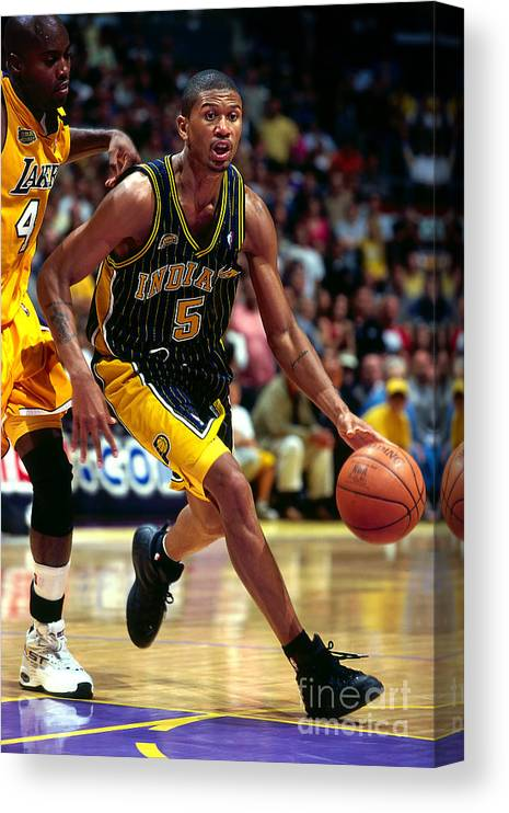 Playoffs Canvas Print featuring the photograph Jalen Rose by Andy Hayt