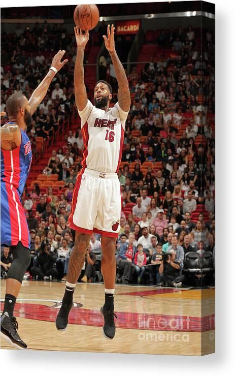 Nba Pro Basketball Canvas Print featuring the photograph James Johnson by Oscar Baldizon