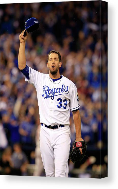 American League Baseball Canvas Print featuring the photograph James Shields by Jamie Squire