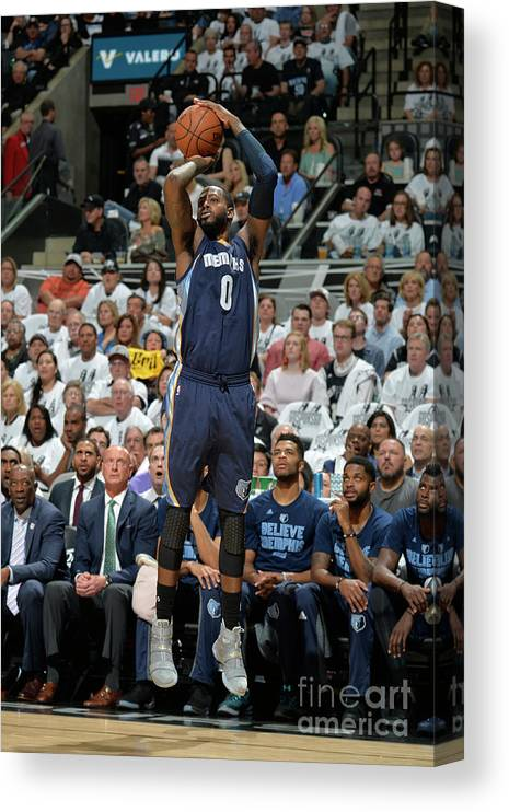 Playoffs Canvas Print featuring the photograph Jamychal Green by Mark Sobhani