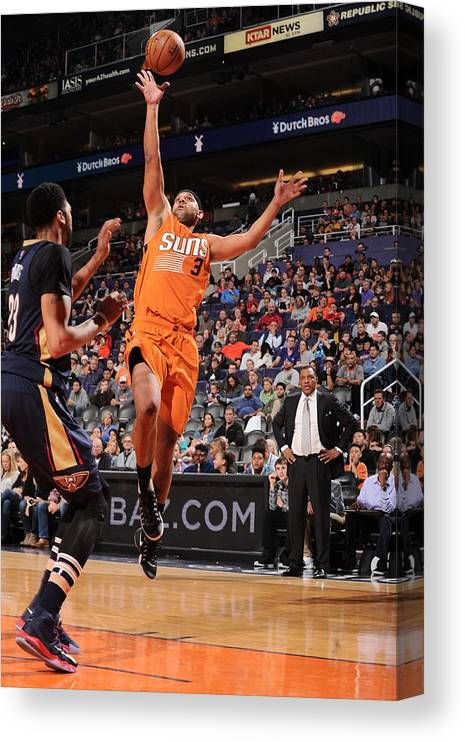 Nba Pro Basketball Canvas Print featuring the photograph Jared Dudley by Barry Gossage