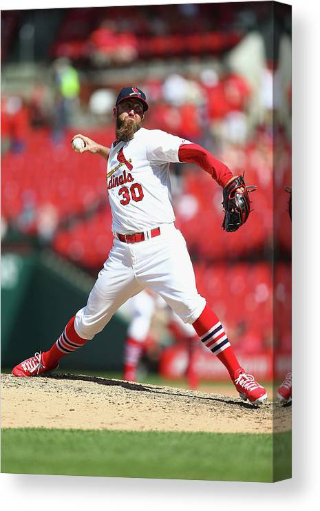 St. Louis Cardinals Canvas Print featuring the photograph Jason Motte by Dilip Vishwanat