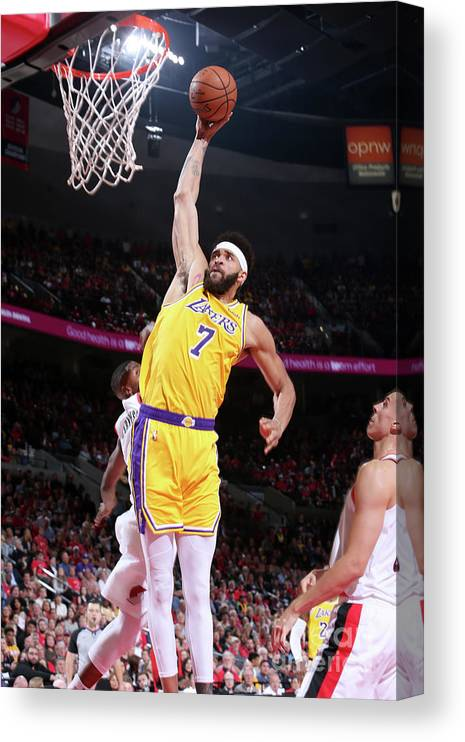 Nba Pro Basketball Canvas Print featuring the photograph Javale Mcgee by Sam Forencich