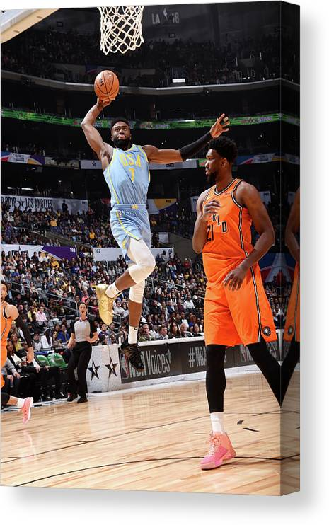 Event Canvas Print featuring the photograph Jaylen Brown by Andrew D. Bernstein