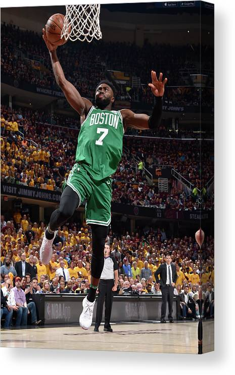 Playoffs Canvas Print featuring the photograph Jaylen Brown by David Liam Kyle