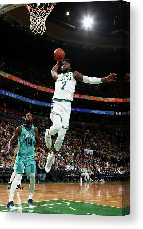 Nba Pro Basketball Canvas Print featuring the photograph Jaylen Brown by Nathaniel S. Butler