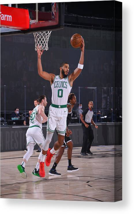 Nba Pro Basketball Canvas Print featuring the photograph Jayson Tatum by Bill Baptist