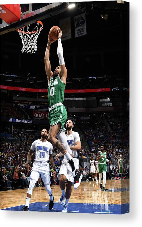 Nba Pro Basketball Canvas Print featuring the photograph Jayson Tatum by Fernando Medina