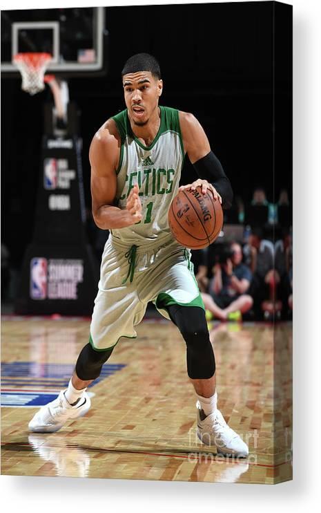 Nba Pro Basketball Canvas Print featuring the photograph Jayson Tatum by Garrett Ellwood