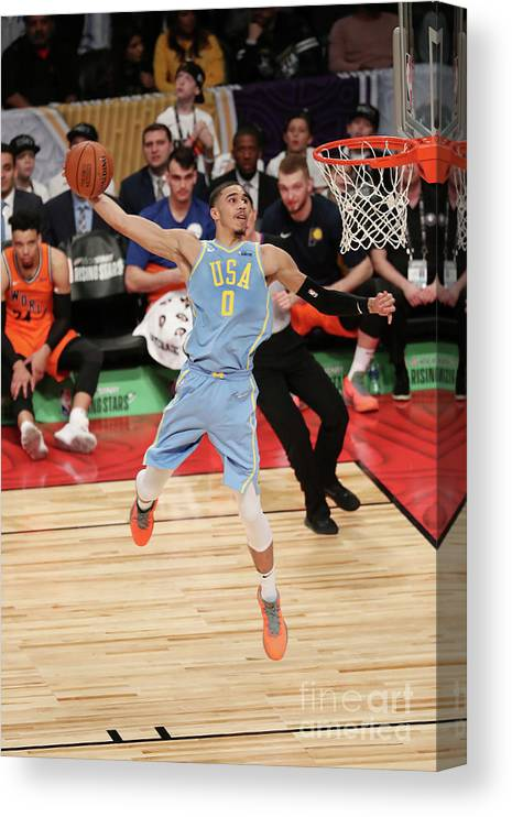 Event Canvas Print featuring the photograph Jayson Tatum by Joe Murphy
