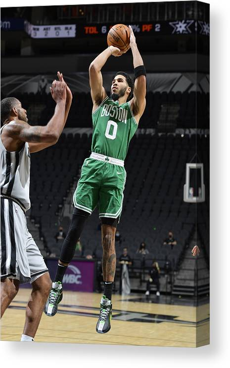 Nba Pro Basketball Canvas Print featuring the photograph Jayson Tatum by Logan Riely