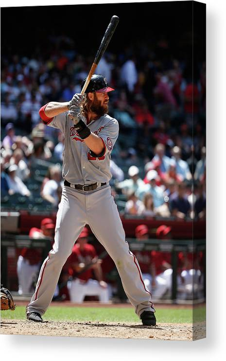 American League Baseball Canvas Print featuring the photograph Jayson Werth by Christian Petersen