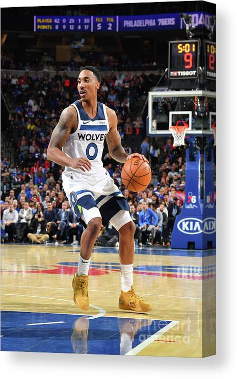 Nba Pro Basketball Canvas Print featuring the photograph Jeff Teague by Jesse D. Garrabrant