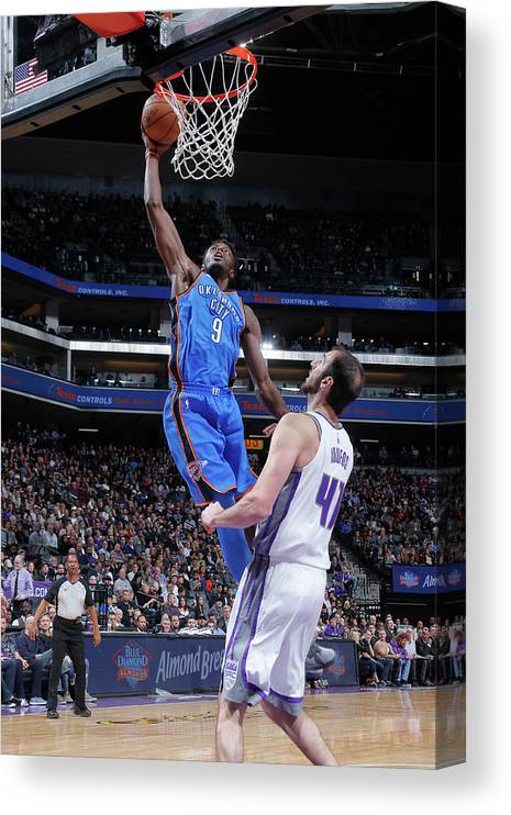 Nba Pro Basketball Canvas Print featuring the photograph Jerami Grant by Rocky Widner