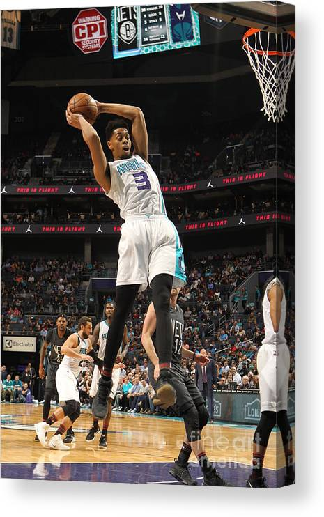 Nba Pro Basketball Canvas Print featuring the photograph Jeremy Lamb by Brock Williams-smith