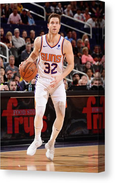 Nba Pro Basketball Canvas Print featuring the photograph Jimmer Fredette by Barry Gossage