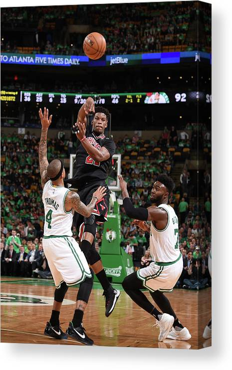 Playoffs Canvas Print featuring the photograph Jimmy Butler by Brian Babineau