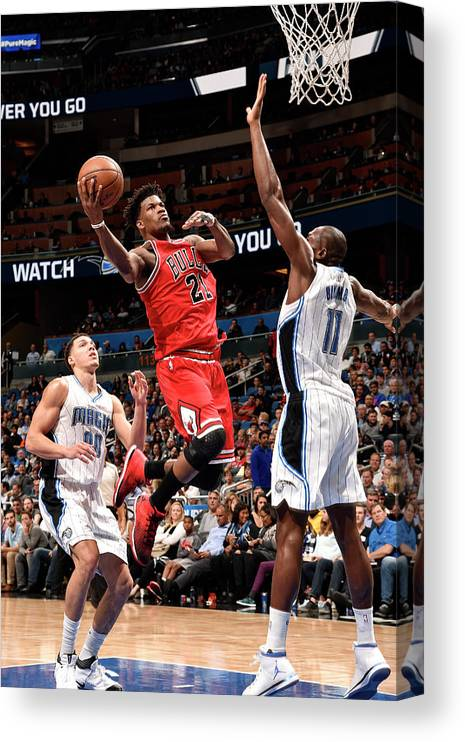 Nba Pro Basketball Canvas Print featuring the photograph Jimmy Butler by Gary Bassing
