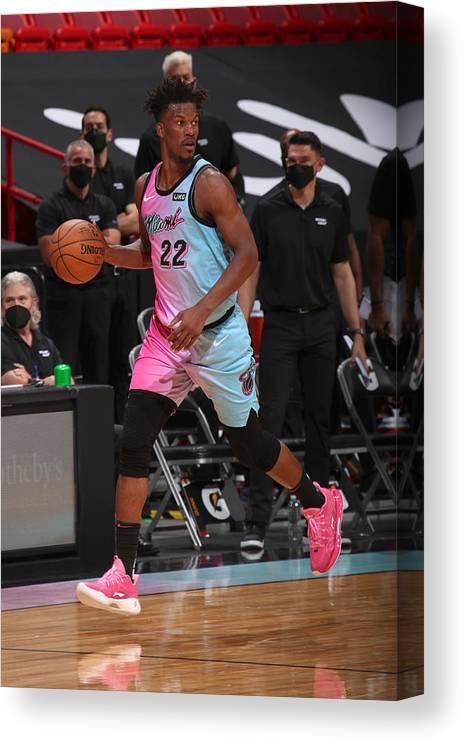 Nba Pro Basketball Canvas Print featuring the photograph Jimmy Butler by Issac Baldizon