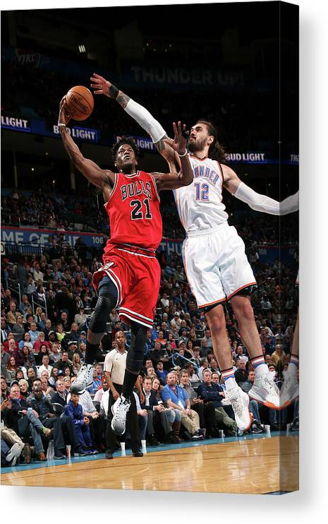 Nba Pro Basketball Canvas Print featuring the photograph Jimmy Butler by Layne Murdoch