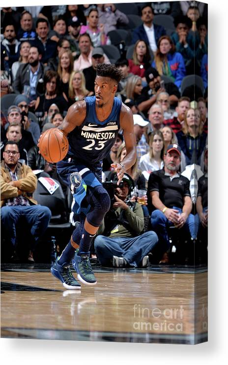 Nba Pro Basketball Canvas Print featuring the photograph Jimmy Butler by Mark Sobhani