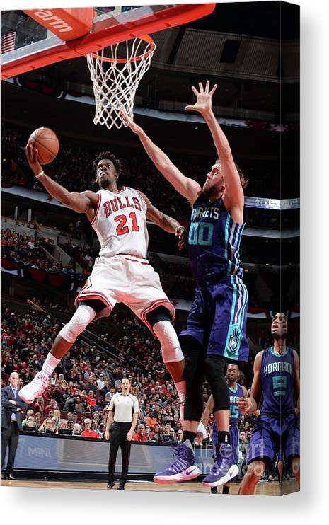 Nba Pro Basketball Canvas Print featuring the photograph Jimmy Butler by Randy Belice