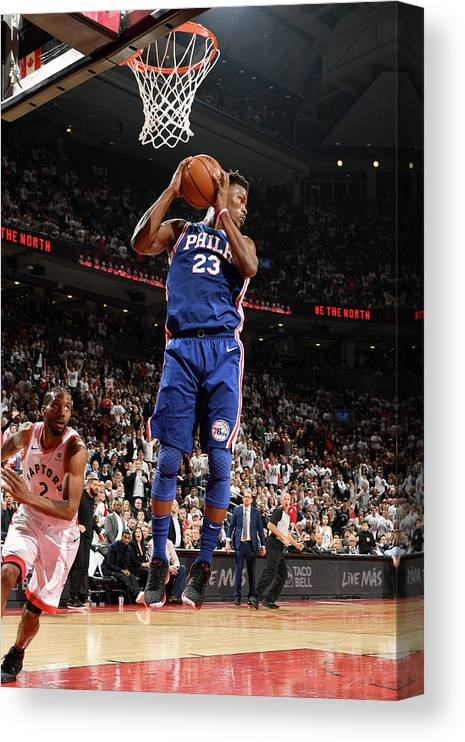 Playoffs Canvas Print featuring the photograph Jimmy Butler by Ron Turenne