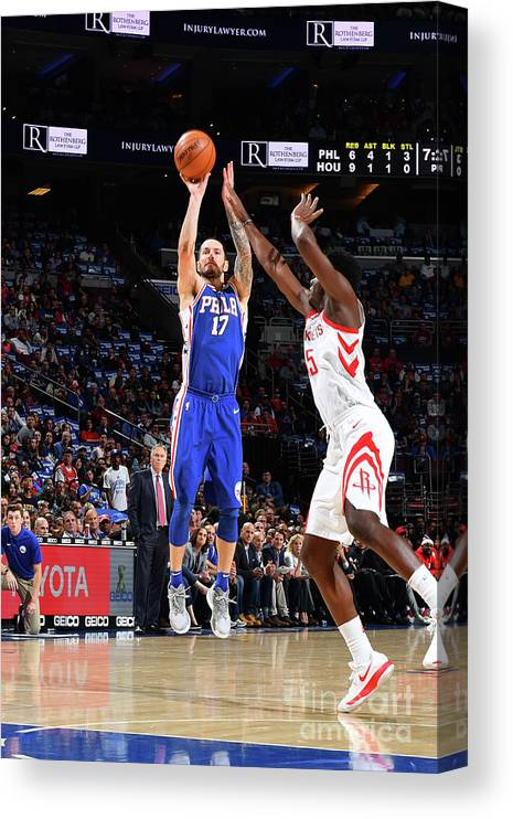 Nba Pro Basketball Canvas Print featuring the photograph J.j. Redick by Jesse D. Garrabrant