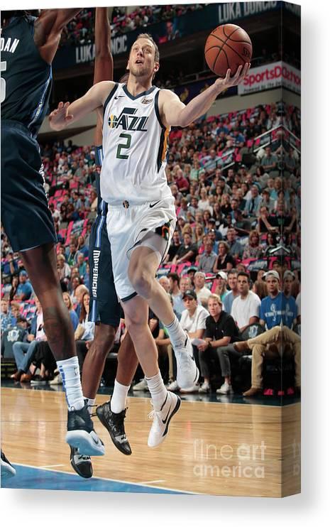 Nba Pro Basketball Canvas Print featuring the photograph Joe Ingles by Glenn James