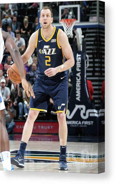 Nba Pro Basketball Canvas Print featuring the photograph Joe Ingles by Melissa Majchrzak