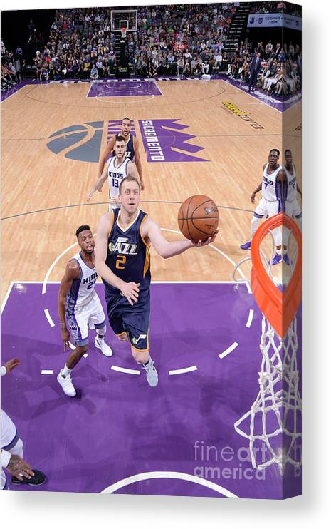 Nba Pro Basketball Canvas Print featuring the photograph Joe Ingles by Rocky Widner