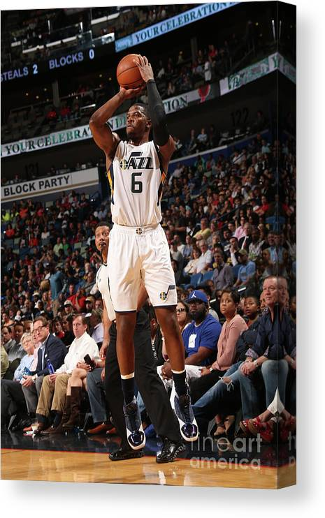 Smoothie King Center Canvas Print featuring the photograph Joe Johnson by Layne Murdoch