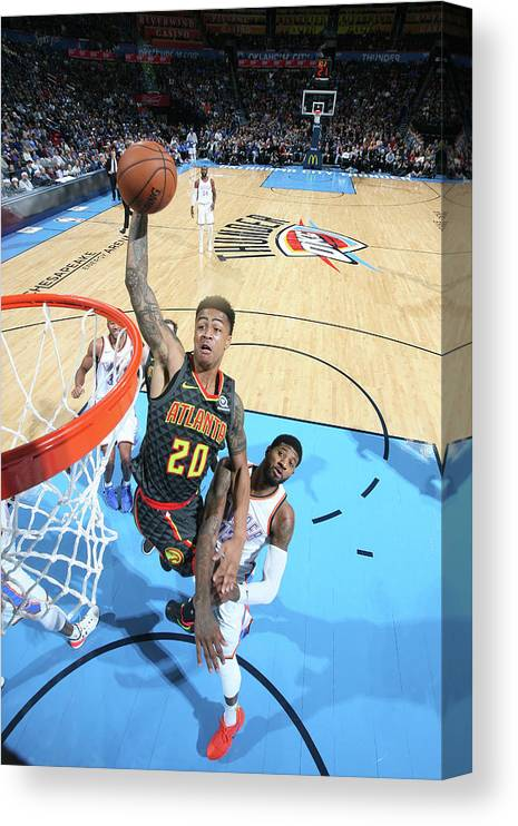 Nba Pro Basketball Canvas Print featuring the photograph John Collins by Layne Murdoch