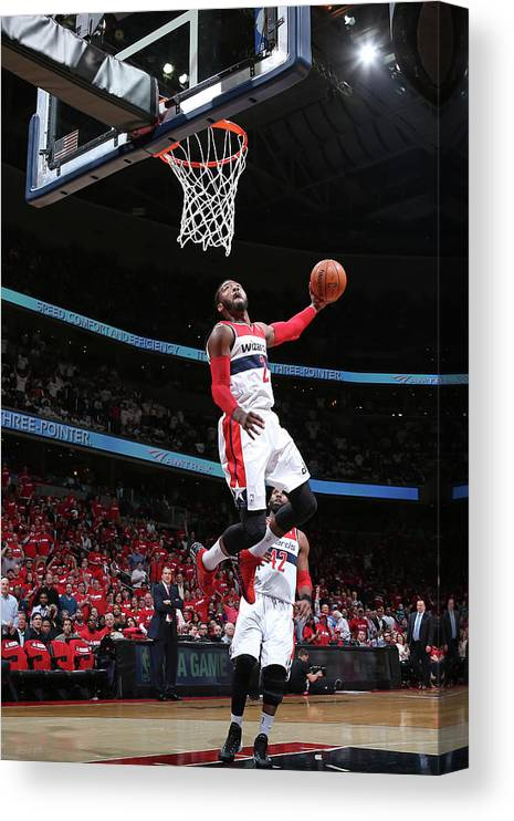 Playoffs Canvas Print featuring the photograph John Wall by Ned Dishman