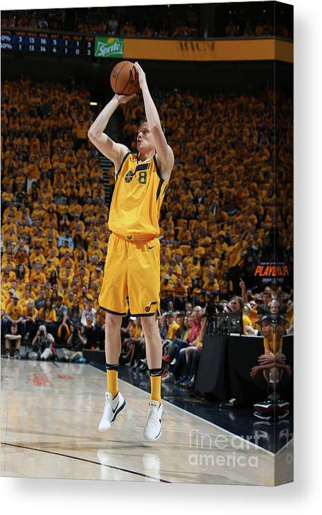 Playoffs Canvas Print featuring the photograph Jonas Jerebko by Melissa Majchrzak