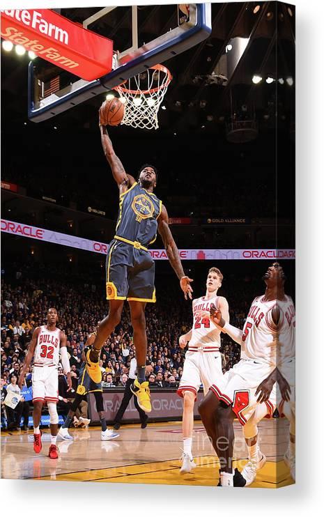 Nba Pro Basketball Canvas Print featuring the photograph Jordan Bell by Noah Graham