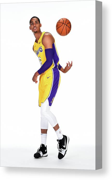 Media Day Canvas Print featuring the photograph Jordan Clarkson by Andrew D. Bernstein