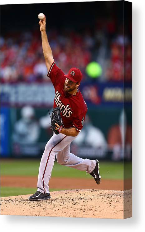 Second Inning Canvas Print featuring the photograph Josh Collmenter by Dilip Vishwanat