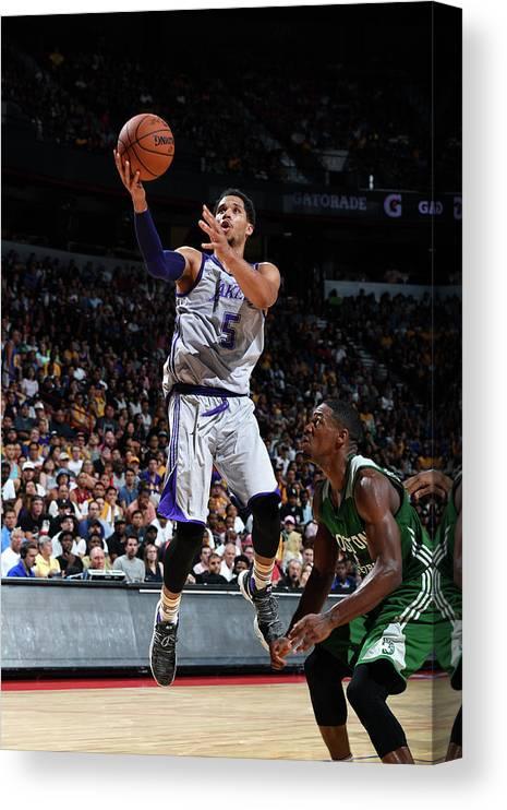 Nba Pro Basketball Canvas Print featuring the photograph Josh Hart by Garrett Ellwood