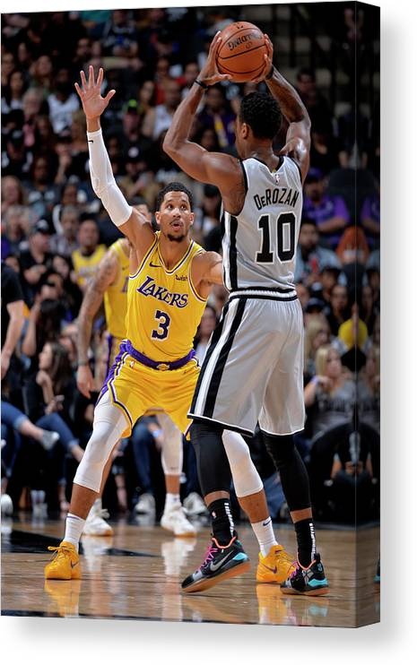 Nba Pro Basketball Canvas Print featuring the photograph Josh Hart by Mark Sobhani
